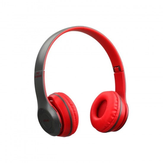 P47 Extra Bass Wireless Bluetooth Kulaklık 5.0+Edr Fm Radyo Kırmızı